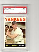 1964 Topps 50 Mickey Mantle Graded Psa Nm 7