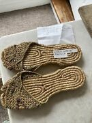Vintage 1940s Woven Asian Slip On Woven House Shoes Slippers Wwii From Manilla