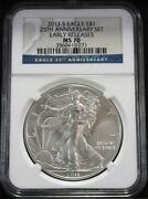 2011-s 1 One Ounce 25th Anniversary Silver Eagle Set Ngc Ms 70 Early Releases