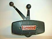 0377250 Vintage Evinrude Simplex Control Box Side Mount W/ Twin Levers Outboard