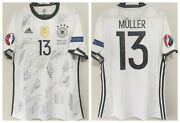 Jersey Germany Euro Cup 2016 13 Muller- Autographed By All The Players