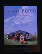2002 Pebble Beach Concours Poster 1933 Cadillac Coupé Lone Cypress Nicola Wood
