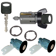 Ford Ignition Key Switch Lock Cylinder And Door Pair Tumbler Set Black 2 Keys