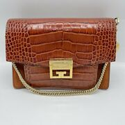 Givenchy Gv 3 Size Small Crocodile-embossed Leather