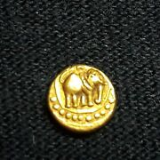 India, Pagoda, Gold Coin,12th-14th Century,0.0149 Troy Oz