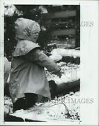 1991 Photo Stacy Herring Plays In Snow 8x10