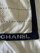 Finely Knit Scarf Cream W Navy Trim Sold Out Bnwt