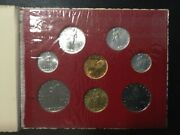1957 Vatican City Rare Uncirculated Coins Set With Gold Coin