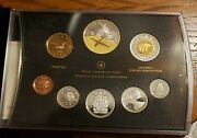 2009 Canada Proof Set Silver Coins Gold Plated Dollar