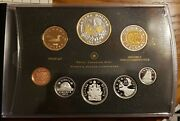 2011 Canada Proof Set Silver Coins Gold Plated Dollar
