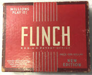 1938 Flinch Card Game By Parker Brothers Vintage New Edition Price One Dollar