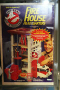 The Real Ghostbusters Fire House Headquarters Afa 80 Sealed Canadian Version