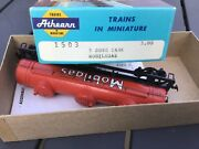 Athearn 1503 Mobilgas 3-dome 40' Tank Car Red Ho Scale With Box Error