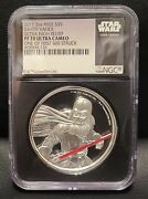 2017 Niue Darth Vader Ultra High Relief Pf70 Ngc One Of First 500 Struck 5 2oz