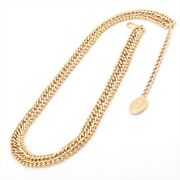 Coco Mark Chain Belt Gold Plated Gold
