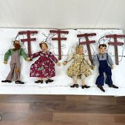 4 Vintage Hazelle's Marionettes - American Made Classic Puppets