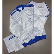 Used Adidas Atp Silver Blue Upper And Lower Sets Jersey Vintage Japan