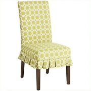 Pier 1 Dana Chair Slipcovers Green Geometric New In Package Sold Out Set Of 2