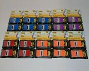Lot Of 10 Post-it Standard Page Flags In Dispenser 100 Flags Multi-color 1000pcs
