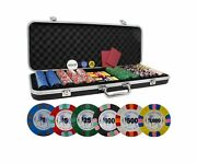 Da Vinci Unicorn All Clay Poker Chip Set With 500 Authentic Casino Weighted 8...