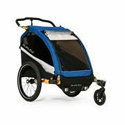 Burley Dand039lite 1 And 2 Seat Kids Bike Trailer And Stroller With Seat Recline And...