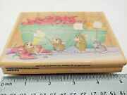 All Fired Up Maxwell Monica Mudpie Retired House Mouse Wood Rubber Stamp L1