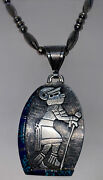 Navajo Norton Becenti Eugene Watson Canyon Collection Sterling Pendant Necklace