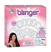 Blinger Dazzling Clear Gem Refill Set - Includes 180 Clear Round Gems Offered...