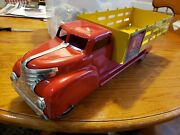 Marx Coca Cola Fence Dlivery Truck Pressed Steel Boxed Louis
