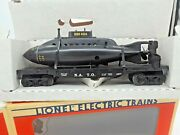 Nib- Lionel 1992 Flat Car W/ Working Nato Sub-6-16677. Read On And See Photoand039s.