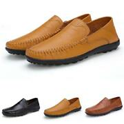 Mens Driving Moccasins Shoes Pumps Slip On Loafers Soft Work Comfy Flat Casual D