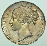 1845 Crown Cinq Stops British Silver Coin From Victoria Ef