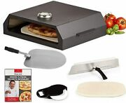 Emeril Lagasse Pizza Grill Oven Kit For Outdoor Indoor Baking Gas Stovetop Black