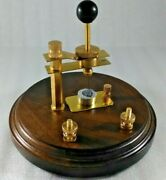 Galena Vertical Crystal Radio Diode Tungsten Cats Whisker Detector Brass Stand