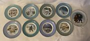 9 Avon Christmas Plate Collectors Series 1973 - 1981 Enoch Wedgwood