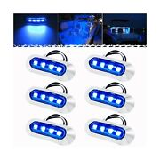 Pseqt 3.8and039and039 Waterproof Boat Marine Led Lights Courtesy Interior Deck Light Na...