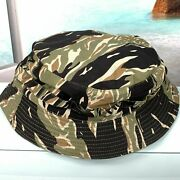 Great Special Force Tiger Stripe Boonie Short Brim Hat Us Size 7.5