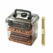 Cigar Humidor Box/case With Humidifier And Electronic Hygrometer And Spanish ...