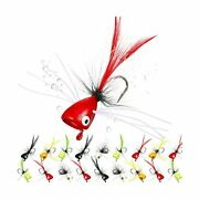 25 Pieces Dry Fly Fishing Popper Lure Kit Bass Poppers Files For Trout Fly Fi...