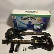 Guitar Hero Live Bundle Xbox One Game 2 Guitars 2 Dongles 2 Straps W/ Box Tested