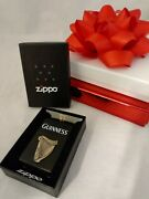 Zippo Luxury Lighter Guinness Embossed Rare Collectable New In Box From Estate