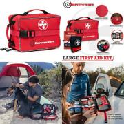 Surviveware Large First Aid Kit Added Mini Kit For Trucks Car Camping And Ou