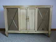 Vintage Mid Century Zenith Console Stereo Record Player Am/fm Tuner Works Great