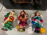 Christopher Radko1998 Forest Angels Set Of 3 First In Series Christmas Ornaments