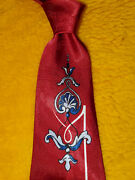 1940s 1950s Bold Vintage Mens Tie France Eiffel Tower French Decor 50