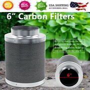 1pc Air Carbon Filters Hydroponics Odor Control Virgin Charcoal For Inline Fan