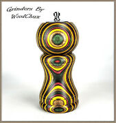 Pepper Mill Grinder Peppermill And Shaker Spectraply Wood Handmade See Video 535