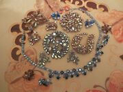 Lot Of 10 Sherman Earringsbroochesnecklaces All Signed