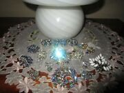 Lot Of 10 Sherman Crystal Aurora Earringsbrooches Signed