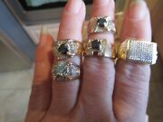 Lot Mixed Menand039s 4 10k Solid Gold 1 Sterling Silver Rings Scrap
